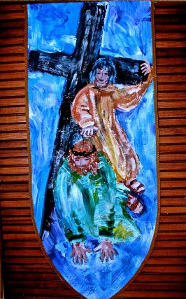 Ninth Station, Jesus falls a third time