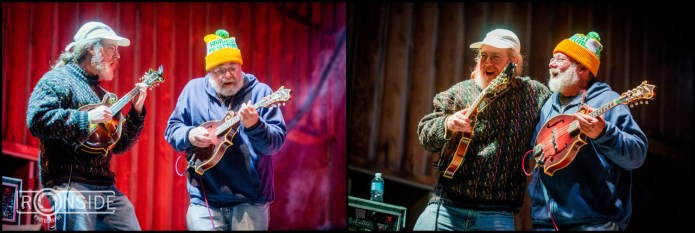 Contest winner plays on stage with Railroad Earth
