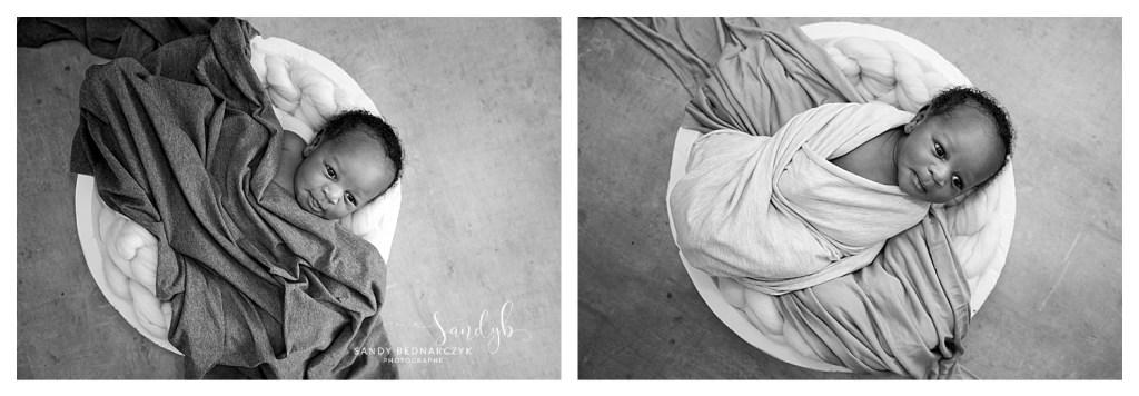 photos bébé en noir et blanc