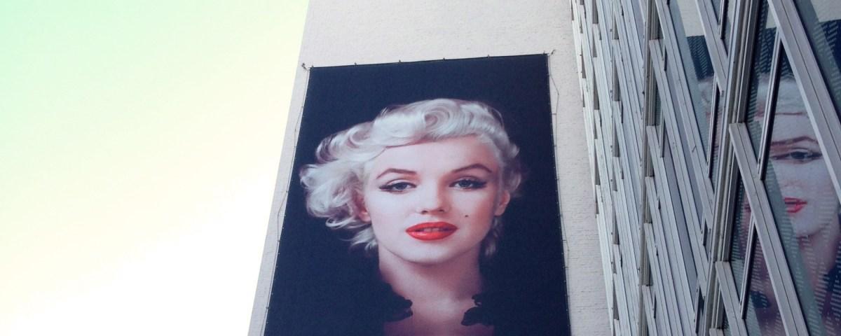 Marilyn Monroe on billboard