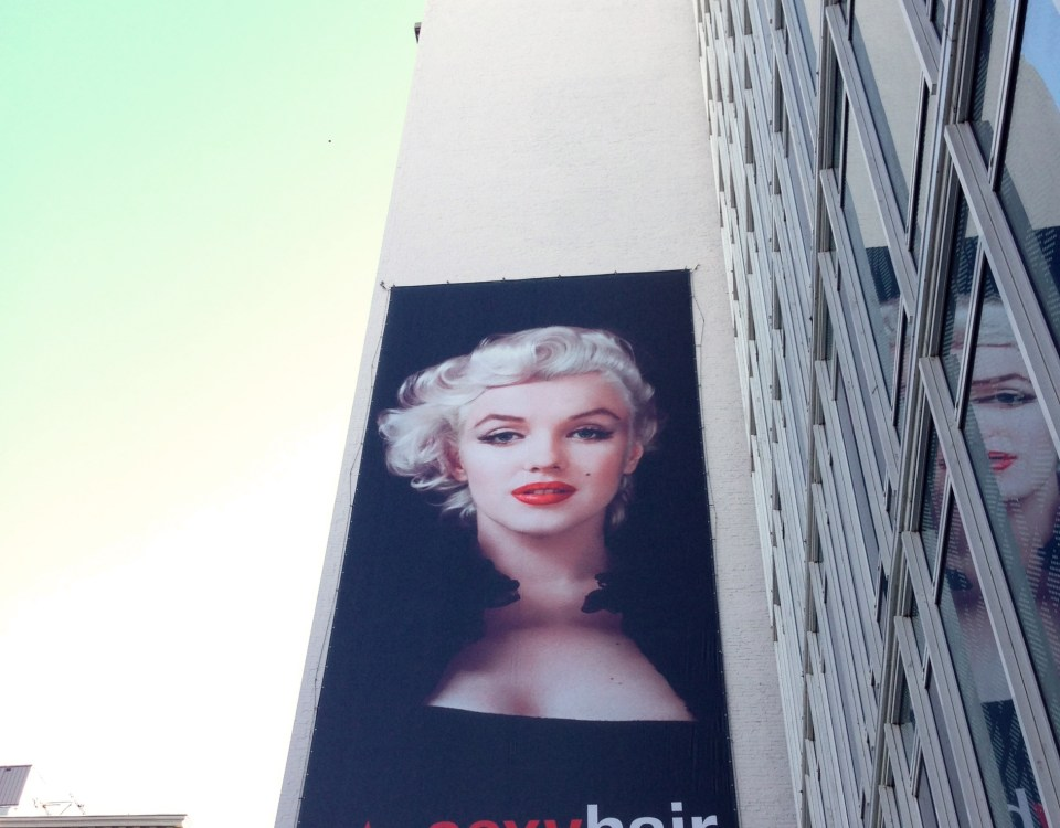 Marilyn Monroe on billboard