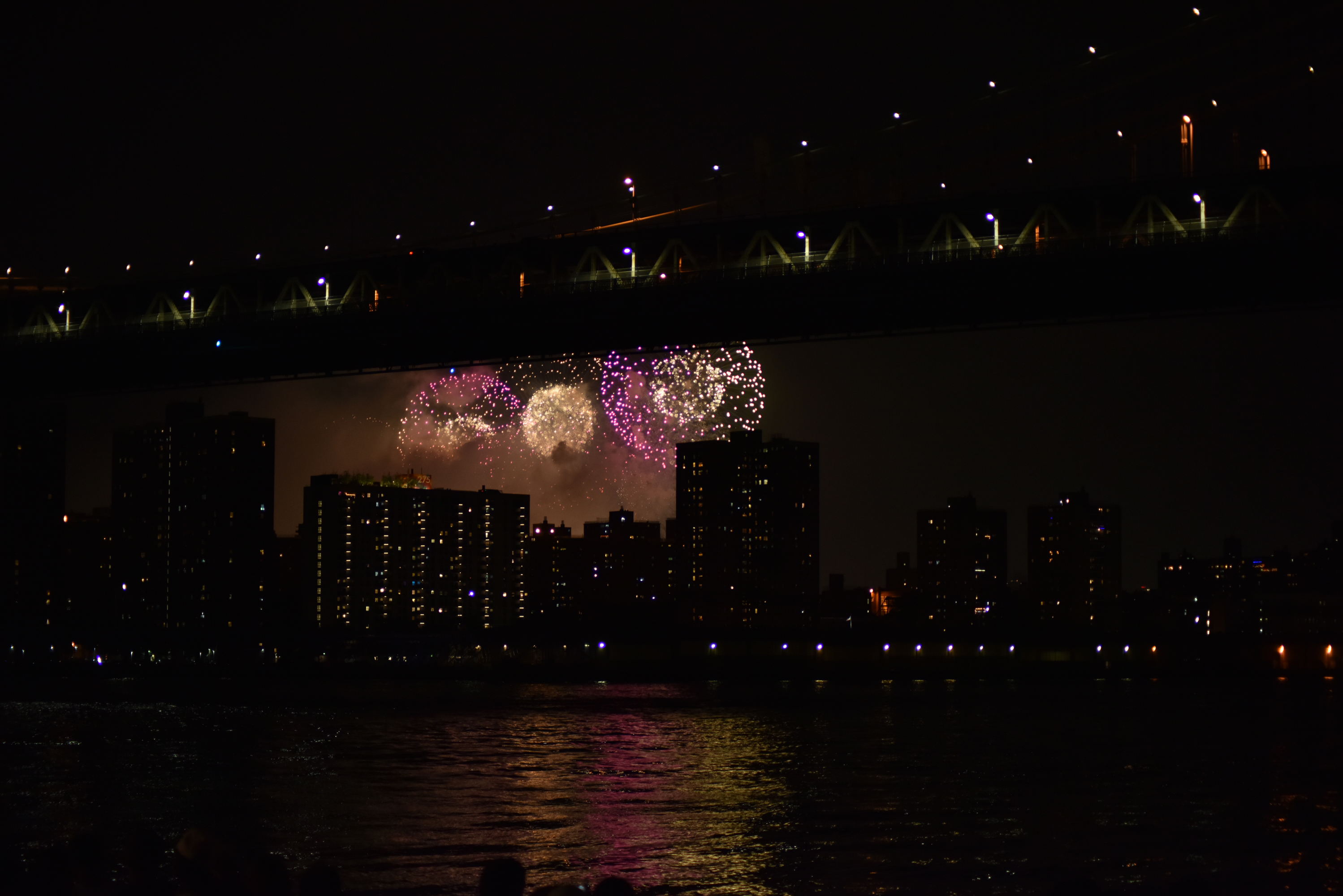 fireworks over east river by sandy hibbard