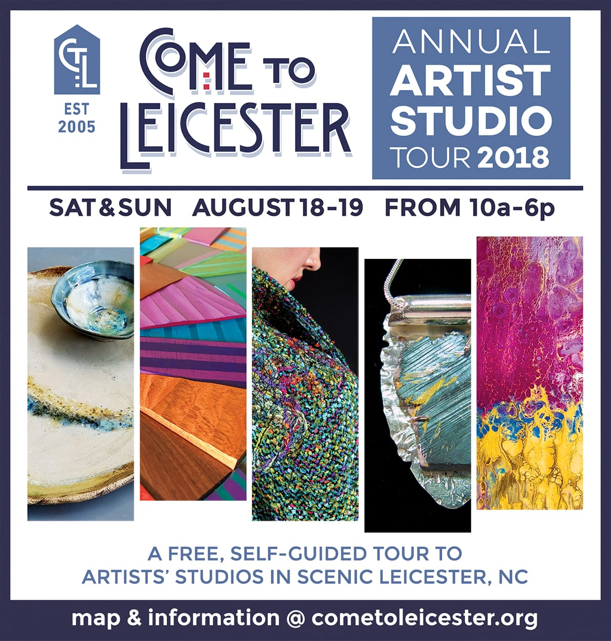 Come to Leicester Annual Artist Studio Tour!  August 18-19, 10-6pm