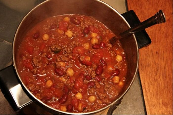 Homemade Local Sandy Mush Beef Chili Meal
