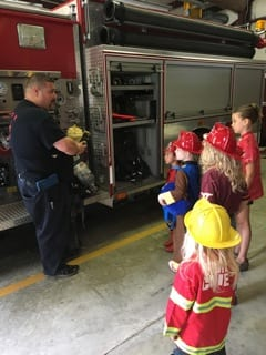 Playgroup Visits the Sandy Mush Fire Station