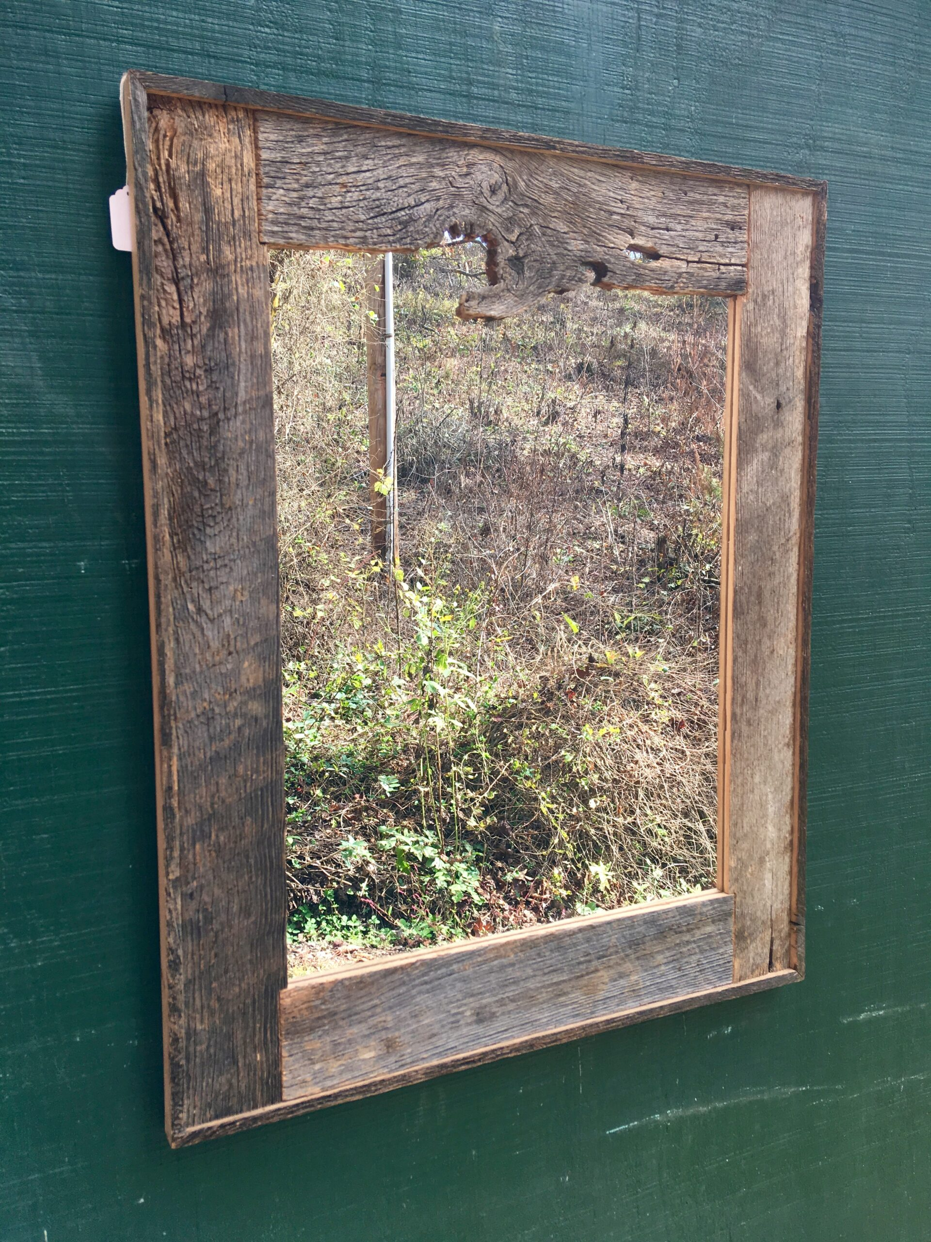 Handcrafted Red Oak Barn Wood Mirror