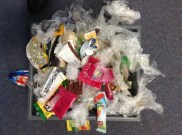 Non Recyclable - lots of cling wrap, zip lock bags and chip packets!