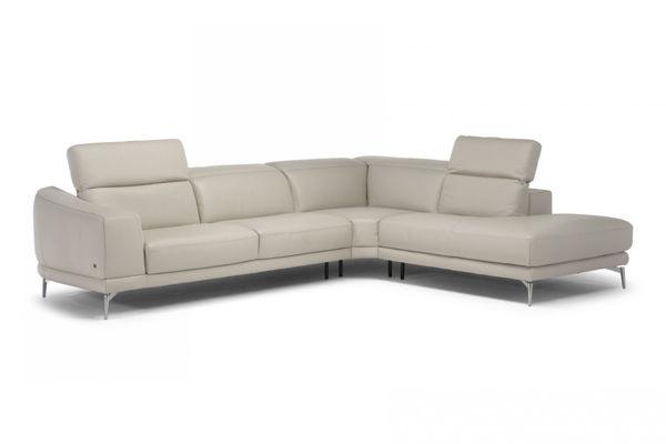 natuzzi italia brooklyn white leather sectional