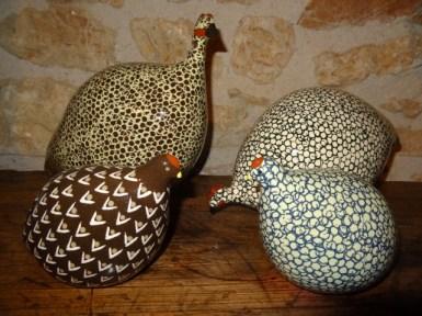 Guinea fowl and quails