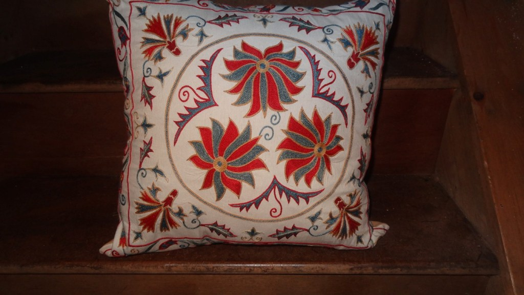 Susani cushion from Central Asia