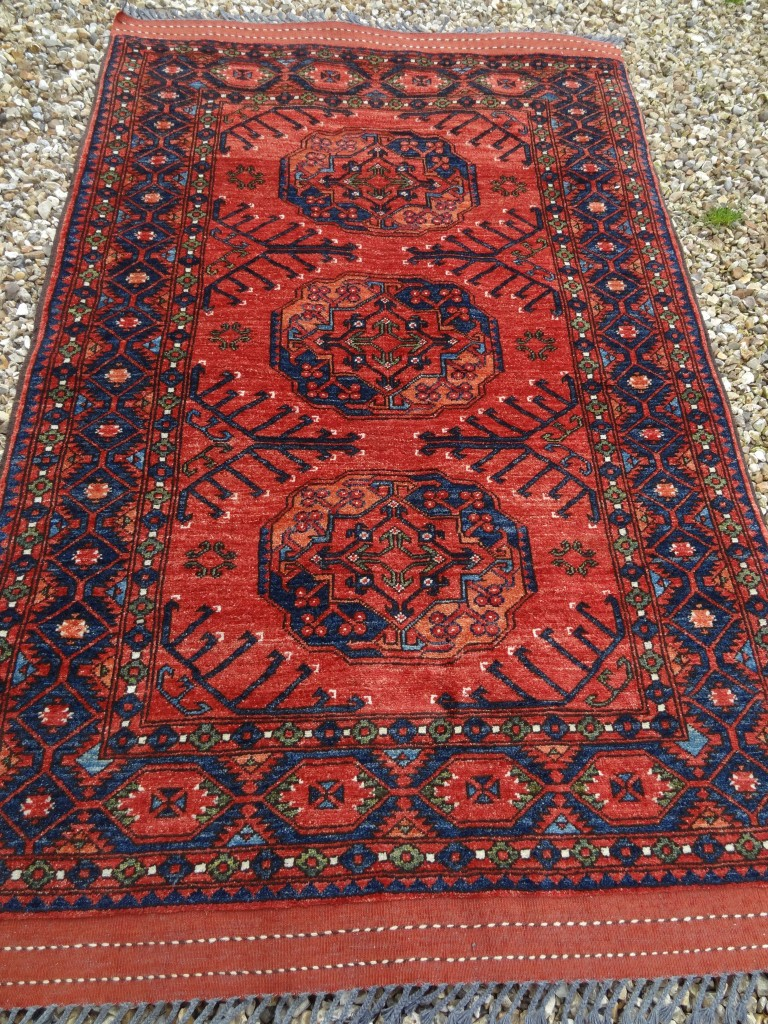 Contemporary Afghan Ersari carpet from northern Afghanistan