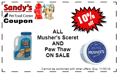 Paw Thaw Coupon