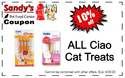 All Ciao cat treats 10% off