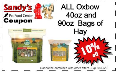 Oxbow Hay Coupon