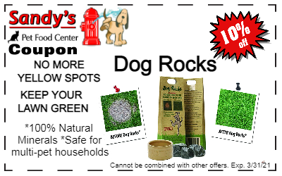 Dog rocks coupon