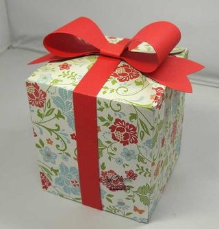 Envelope Punch Board Box with a Gift Bow Bigz Die Bow