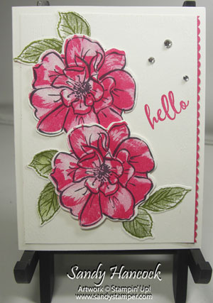To A Wild Rose with the Retiring Ribbon Border Punch