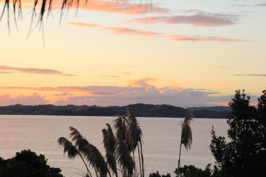 Dusk over Hauraki Gulf, March 2014