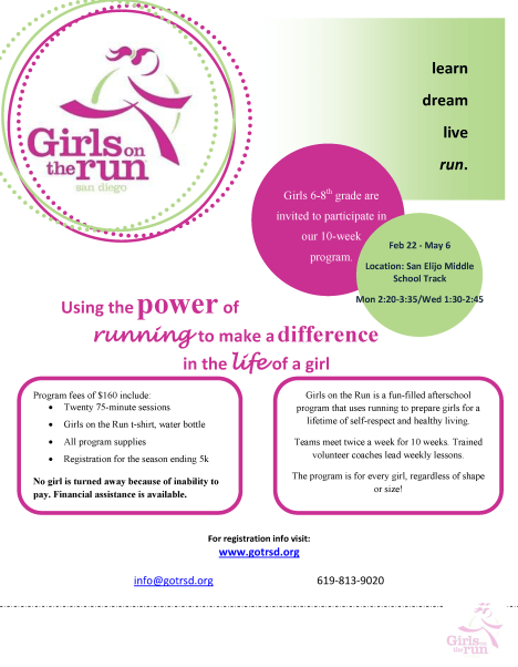 Girls on the Run- San Elijo Hills