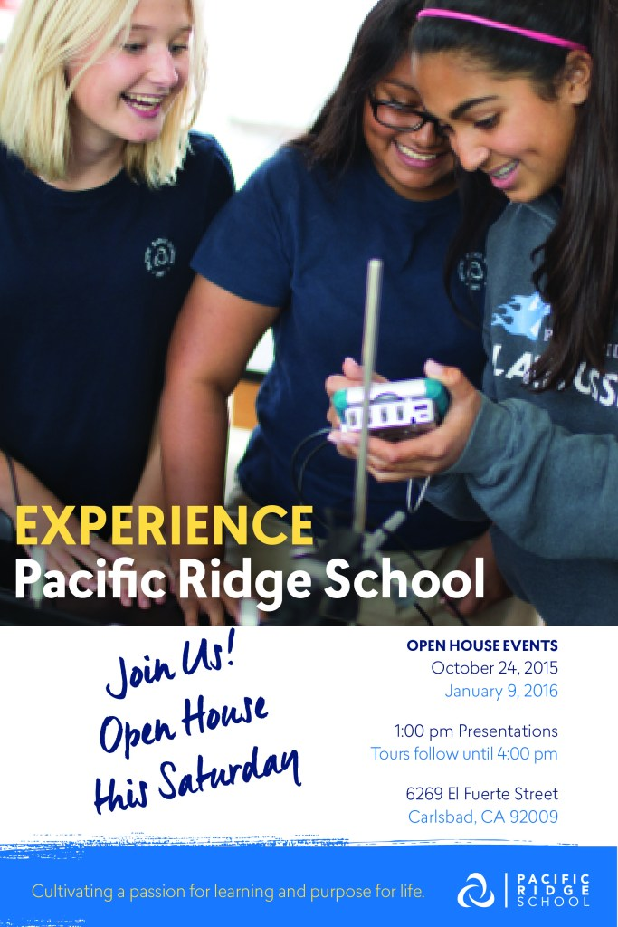 Pacific Ridge School open house is this Saturday