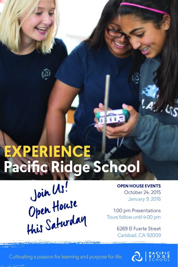 Pacific Ridge School open house is this Saturday