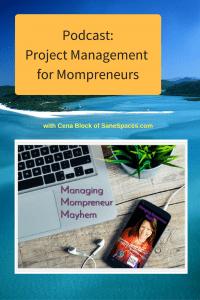 Project Management for Mompreneurs | Podcast |SaneSpaces.com