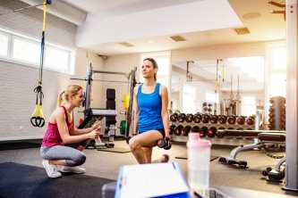 morning routine of women working out in gym