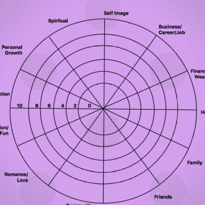 Wheel of Life Balance by SaneSpaces.com