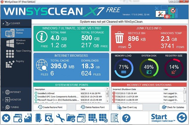 WinSysClean X9 Free v19.0