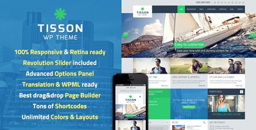 ThemeForest - Tisson v1.4 - WordPress Theme - 4891338