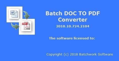 Batch DOC to PDF Converter 2018.10.724.2104