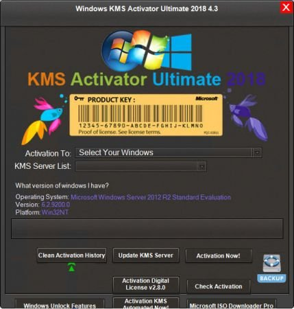 Windows KMS Activator Ultimate 2018 4.3