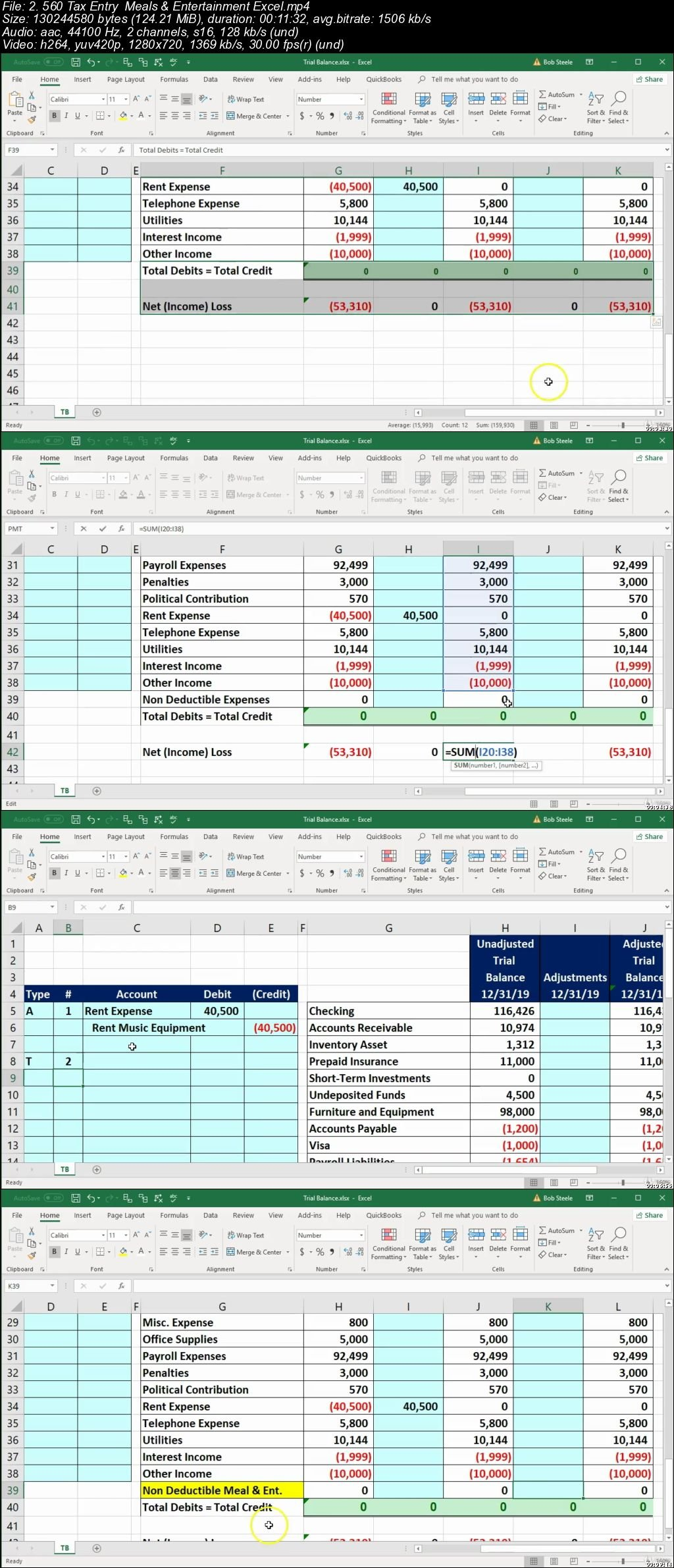 Download Tax Amp Adjusting Entry Year End Accounting Excel