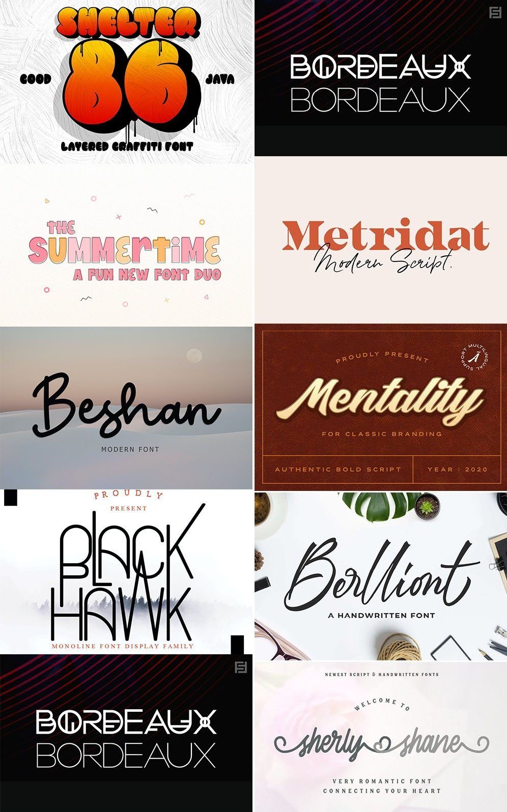 Download Download Pack of 9 Creative Fonts Vol 2 - SoftArchive