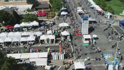 SkyDrone 5 over the 2019 Fremont Festival of the Arts. (SkyDrone 5/CBS)