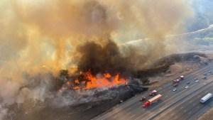 Route Fire Burns Near Castaic