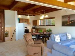Living, Dining and Kitchen Area, all with sweeping views of ocean & S.F. coast.
