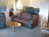 Another view of the living area and 2nd king bed.