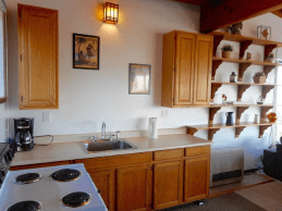 Comfy Kitchen with all cooking amenities + microwave and same Dazzling Views.