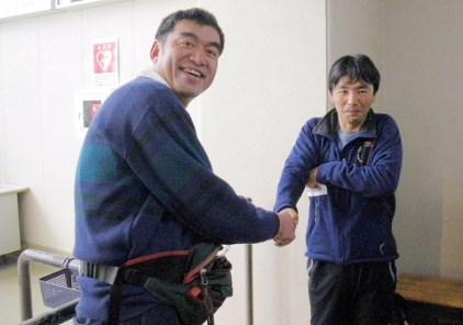 ロープウエイ駅で山野井さんに会った!