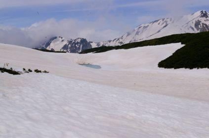 ミドリ池、雪に埋まる
