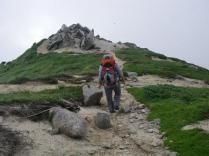 03 以東岳への稜線