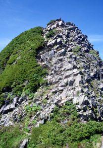 56.赤石岳への登り。