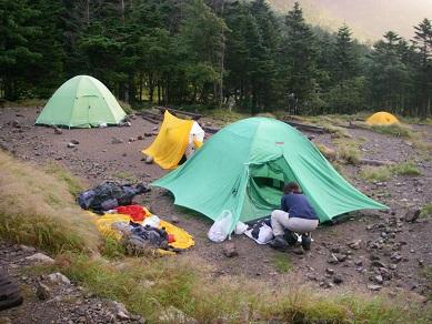 06.テントを張ってこれから夕食