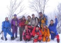 2009年2月14日定例山行A  武奈ヶ嶽(滋賀県北部)