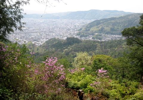 大文字山から京都市街