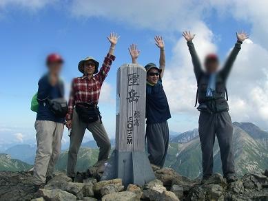 2010年9月4日 南アルプス、聖岳(3011m)
