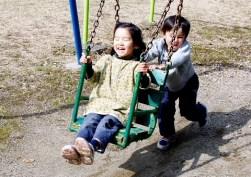 山登りより公園で遊びたい。