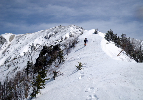越百山(2613.2m)(中央アルプス・伊那川ダムより)