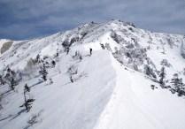 越百山山頂まであと50mほど。
